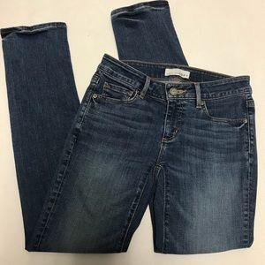 Ann Taylor loft curvy straight skinny jeans 0/25